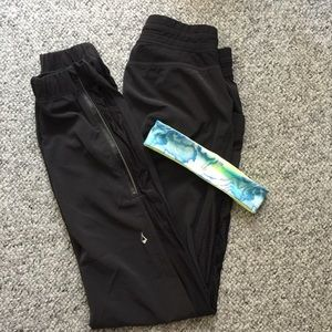 Ivivva jogger pants / headband Girls size 14